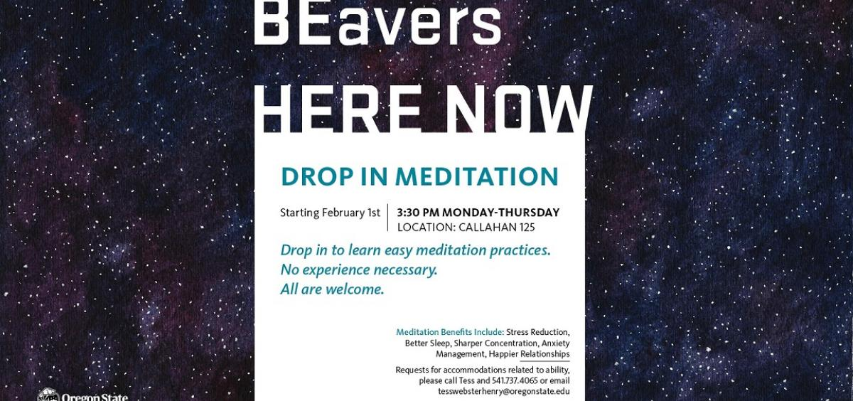 BEavers HERE NOW Drop-In Meditation